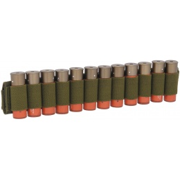 Lancer Tactical Airsoft Shotgun Shell Holder 12 Rd Capacity - OD GREEN