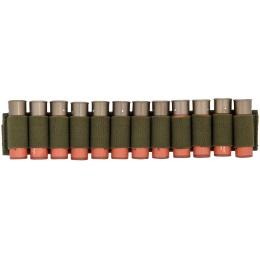 Lancer Tactical Airsoft Shotgun Shell Holder 12 Rd Capacity - OD GREEN