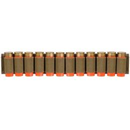 Lancer Tactical Airsoft Shotgun Shell Holder 12 Rd Capacity - TAN