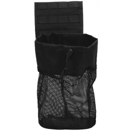 Lancer Tactical Airsoft Fold Away Dump Pouch w/ MOLLE BASE - BLACK