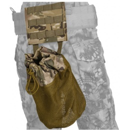 Lancer Tactical Airsoft Fold Away Dump Pouch w/ MOLLE BASE - CAMO