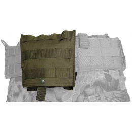 Lancer Tactical Airsoft Fold Away Dump Pouch w/ MOLLE BASE - OD GREEN