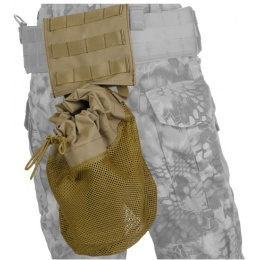 Lancer Tactical Airsoft Fold Away Dump Pouch w/ MOLLE BASE - TAN