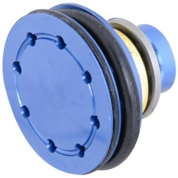 Lancer Tactical Airsoft 8-Hole Flat Aluminum Piston Head w/Bearing - BLUE