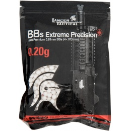 Lancer Tactical 0.20g Seamless Airsoft BBs - 1000rd Bag