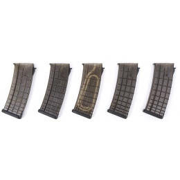 PTS Syndicate Airsoft AK Magazines Box Set - 5 Pack - CHARCOAL GREY