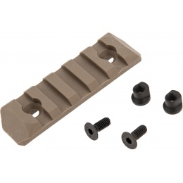 PTS Airsoft Upgraded 1913 Rail Section Keymod 5 Slots - DE