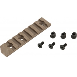 PTS Airsoft Upgraded 7-Slot KeyMod Rail Section - DARK EARTH