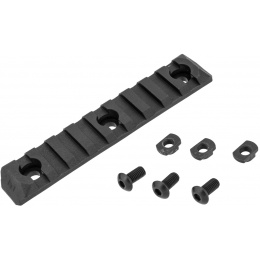 PTS Syndicate Airsoft Enhanced 9-Slot ERS M-LOK Rail Section - BLACK