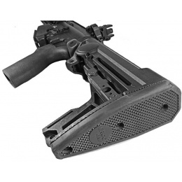PTS Syndicate Airsoft Ergo F93 Pro Stock w/ Pad For AEG Buffer Tubes - BLACK
