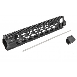 PTS Syndicate Airsoft 12-inch Rail System Free Float Fortis Rev - BLACK