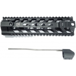 PTS Syndicate Airsoft 9-inch Rail System Free Float Fortis Rev - BLACK