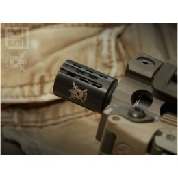 PTS Syndicate Battle Comp 2.0 SCV 14mm CW Flash Hider - BLACK