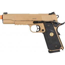 Cybergun Airsoft Spartan STS-7 MEU Gas Blowback M1911 Pistol - TAN