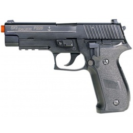 Cybergun P226 Airsoft Metal Sig Sauer Gas Blowback Pistol - BLACK