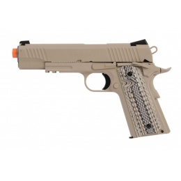 Colt M45A1 CQBP 1911 CO2 Blowback Airsoft Pistol - TAN