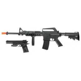 Cybergun Airsoft Spring Colt M4 Rifle/Pistol Combo - BLACK