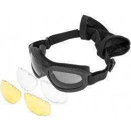 Bobster Airsoft Bravo 2 Ballistic Goggles - MATTE BLACK