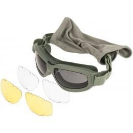 Bobster Airsoft Bravo 2 Ballistic Goggles - OD GREEN
