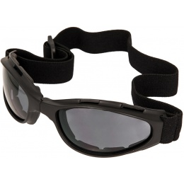 Bobster Airsoft Tactical Compact Crossfire Goggles - BLACK