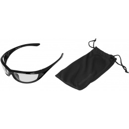 Bobster Airsoft Anti-Fog Charger Clear Sunglasses - BLACK