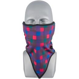 ZAN Headgear Airsoft Neck Gaiter Fleece - QUAD PLAID