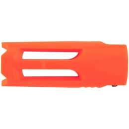 Krytac Airsoft 14mm Plastic Flash Hider Replacement - ORANGE