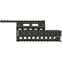 Firefield Aluminum AK Carbine 8.65 Inch Quad Rail - BLACK