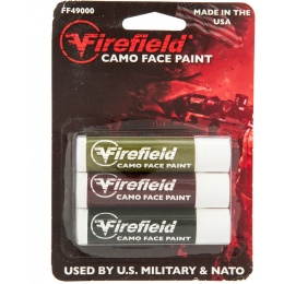 Firefield Washable Woodland Camo Facepaint 3 Tube Pack