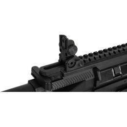Lancer Tactical Airsoft M4 AEG Mini PDW w/ Suppressor - BLACK