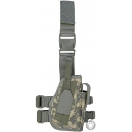 Lancer Tactical Drop Leg Holster w/ Integrated Magazine Pouch - ACU