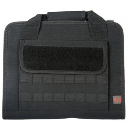Lancer Tactical Airsoft Protective MOLLE Pistol and Accessory Bag - BLACK