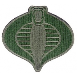 AMA Airsoft Cobra Patch w/ Hook and Loop Back - OLIVE DRAB GREEN