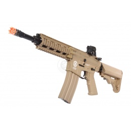 G&G Combat Machine GR16 CQW Rush EBB AEG Airsoft Rifle - Desert TAN
