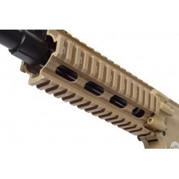 G&G Combat Machine GR16 CQW Rush EBB AEG Airsoft Rifle - Desert TAN
