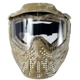 AMA Full Face Airsoft Protective Mask w/ Visor - DESERT DIGITAL