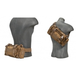 AMA Tactical Airsoft Buttpack w/ Adjustable Strap - TAN
