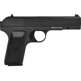 UK Arms G33 Airsoft Tokarev Metal Spring Pistol - BLACK