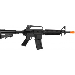 Lancer Tactical LT-01C Airsoft M4 Commando AEG Rifle - BLACK