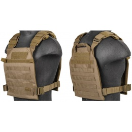 Lancer Tactical Polyester QR Lightweight Plate Carrier - TAN