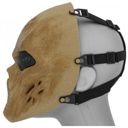 UK Arms Airsoft Villain Full Face Mask - DRIED BONE