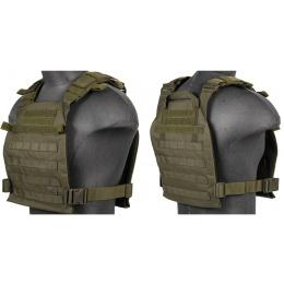 Lancer Tactical Polyester QR Lightweight Plate Carrier - OD GREEN