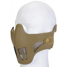 AMA AC-477T Airsoft Polymer Mesh Half Mask - TAN