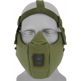 UK Arms Airsoft V5 Mesh Vented Half Face Mask - OD