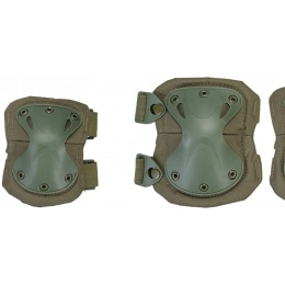 UK Arms Airsoft Tactical Protective Pad Set - OD GREEN