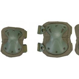 UK Arms Airsoft Tactical Protective Pad Set - OD GREEN