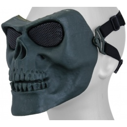 UK Arms Airsoft AC-318GN Skull Full Face Mask - BLUE GREEN