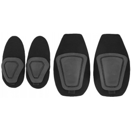 UK Arms Airsoft Tactical Gen 2 Protective Pad Set - BLACK