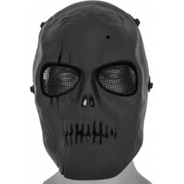 UK Arms Airsoft AC-475B2 Skull Full Face Mask - BLACK