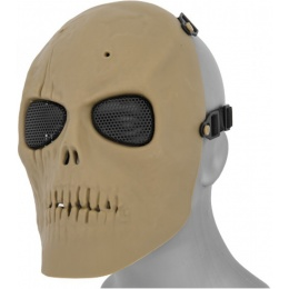 UK Arms Airsoft AC-475T Skull Full Face Mask - TAN